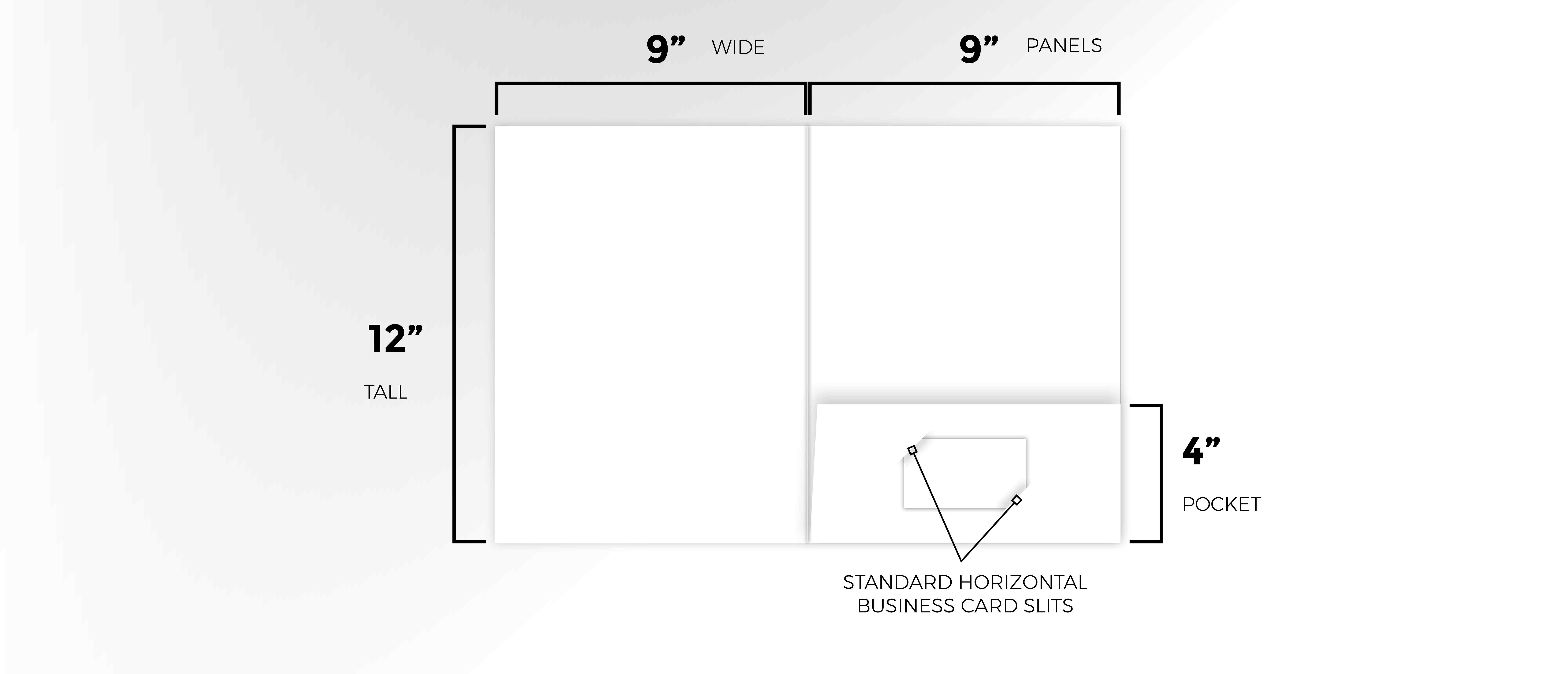 Measurements of Custom Presentation Folders Small Quantity