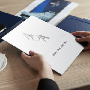 custom printed folder branded presentation folder printing
