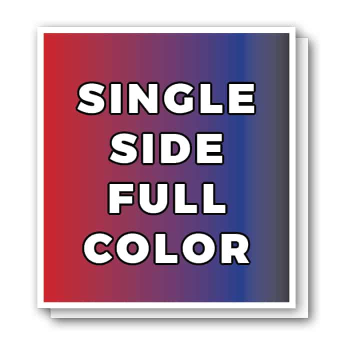 Single Sided Full Color