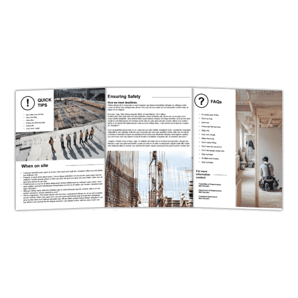 11x25.5 brochure printing, 6 page brochure, 6 panel brochure 1