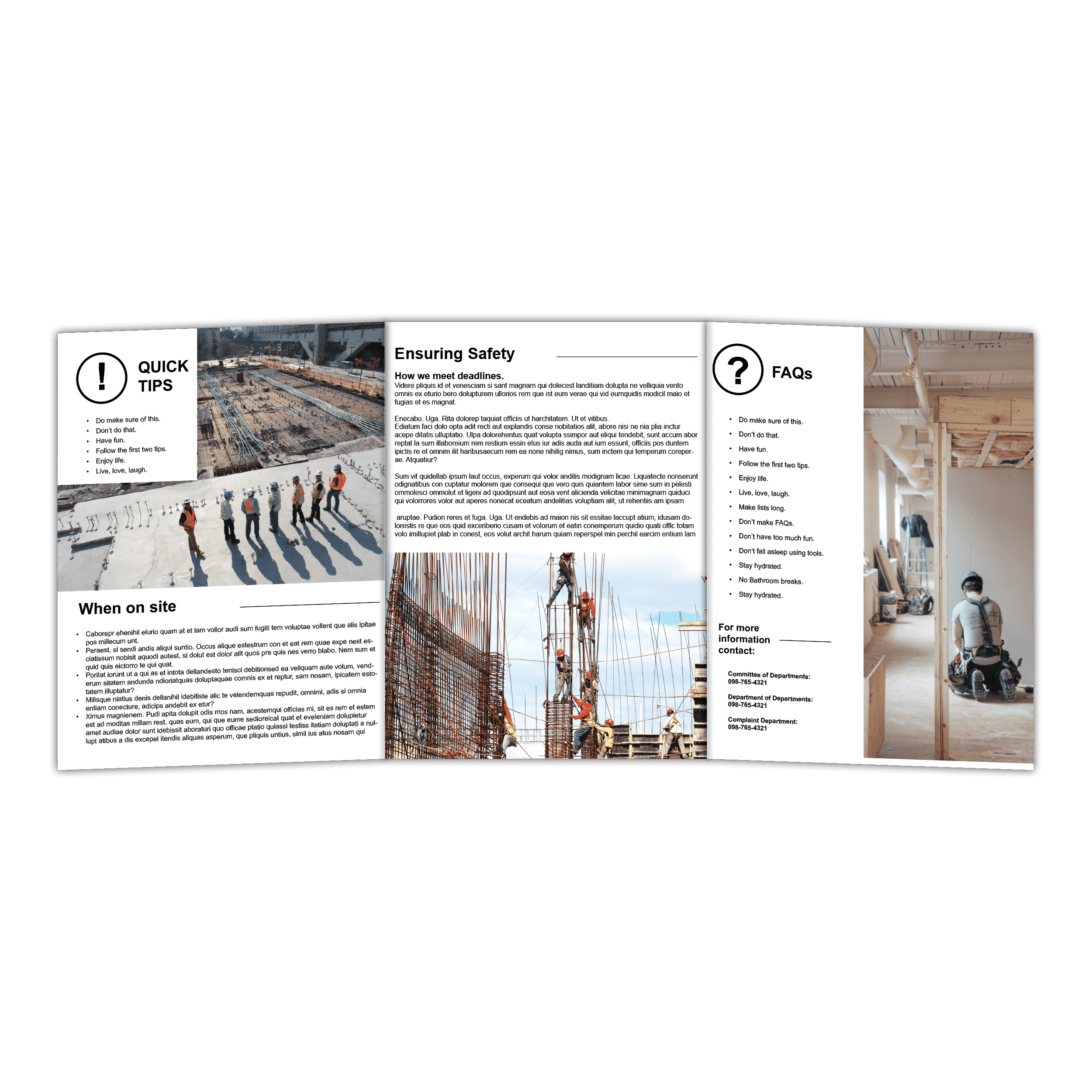 11x25 5 Brochure Printing Full Size 6 Sided Brochure