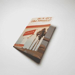 mini stapled booklet printing, event brochure brochure playbill brochure program bifold event brochure bi fold pamphlet