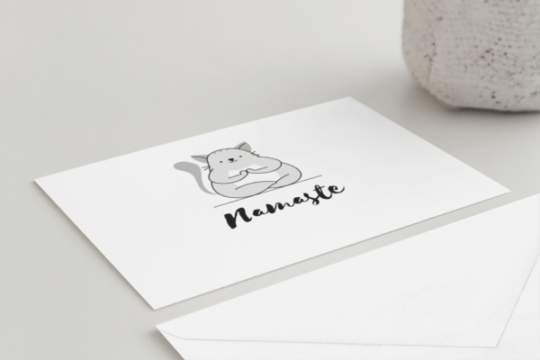 flat greeting card with envelope 2