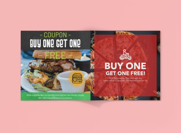 stapled coupon booklet