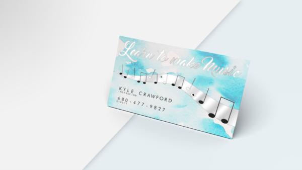 metallic business cards, business card metallic Silver
